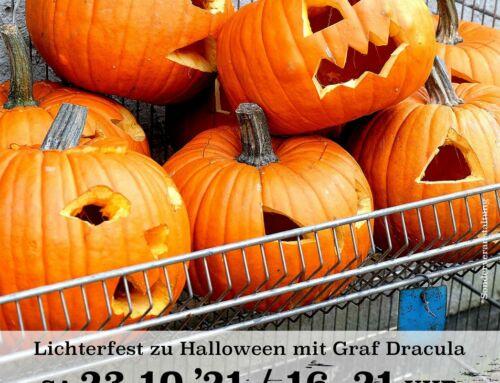 Lichterfest zu Halloween mit Graf Dracula